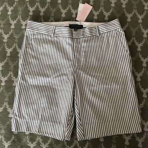 Banana Republic Navy and Off White Shorts